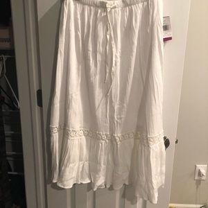 White linen maxi skirt NWT